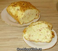 Кекс с ветчиной и сыром