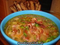 Суп из чечевицы с сельдереем