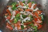 Салат из сельди со сладким перцем и помидорами