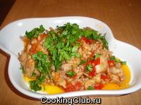 Куриное рагу с овощами и рисом