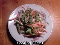 Салат из фасоли и корейской морковки