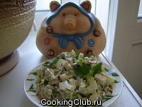 Салат с яйцами и беконом