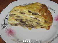 Блинчатый пирог (лазанья по - русски)