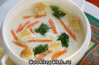 Крем - суп из цветной капусты с семгой