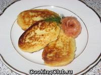 Картофельно - сырные оладьи
