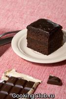 Медово - шоколадно - банановый торт