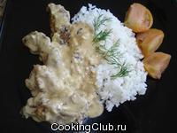 Печеночные отбивные в сметанном соусе
