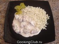 Мясо с соевым соусом и сливками