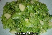 Зеленый салат с кабачком