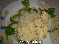 Куриное филе в сливочно - миндальном соусе
