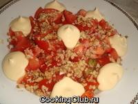 Салат кабачковый с орехами