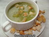 Суп - пюре из спаржи со шпинатом