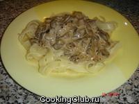 Тальятелле с грибами