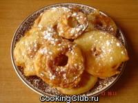 Постные яблочные оладьи или яблоки во фритюре