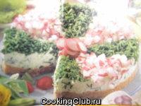 Творожный торт (соленый)