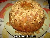 Яблочно - миндальный кекс
