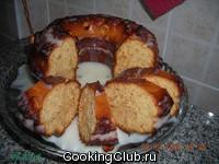 Медовый кекс в йогуртовой заливке