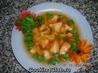 Легкий суп из грудки индейки