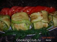 Кабачки с плавленым сыром и зеленью